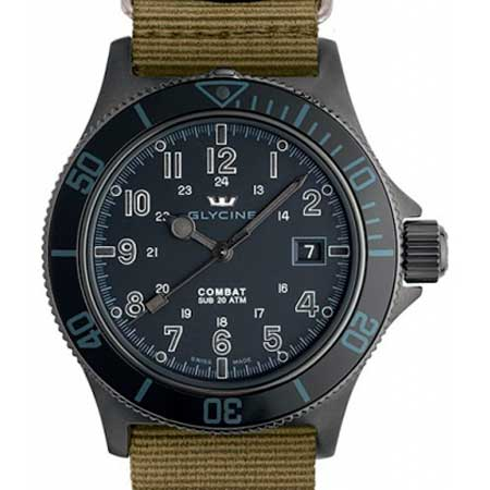 Часы Glycine Combat SUB Automatic Specials Stealth 3863.99AT