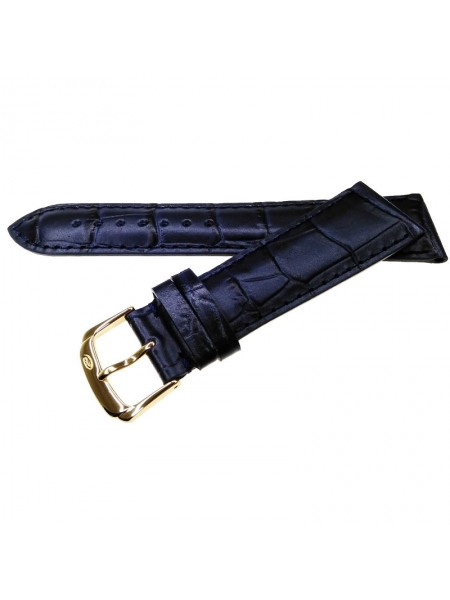 Ремень Rhein Fils Alligator Decor Luxe - 1731 синий 22 мм